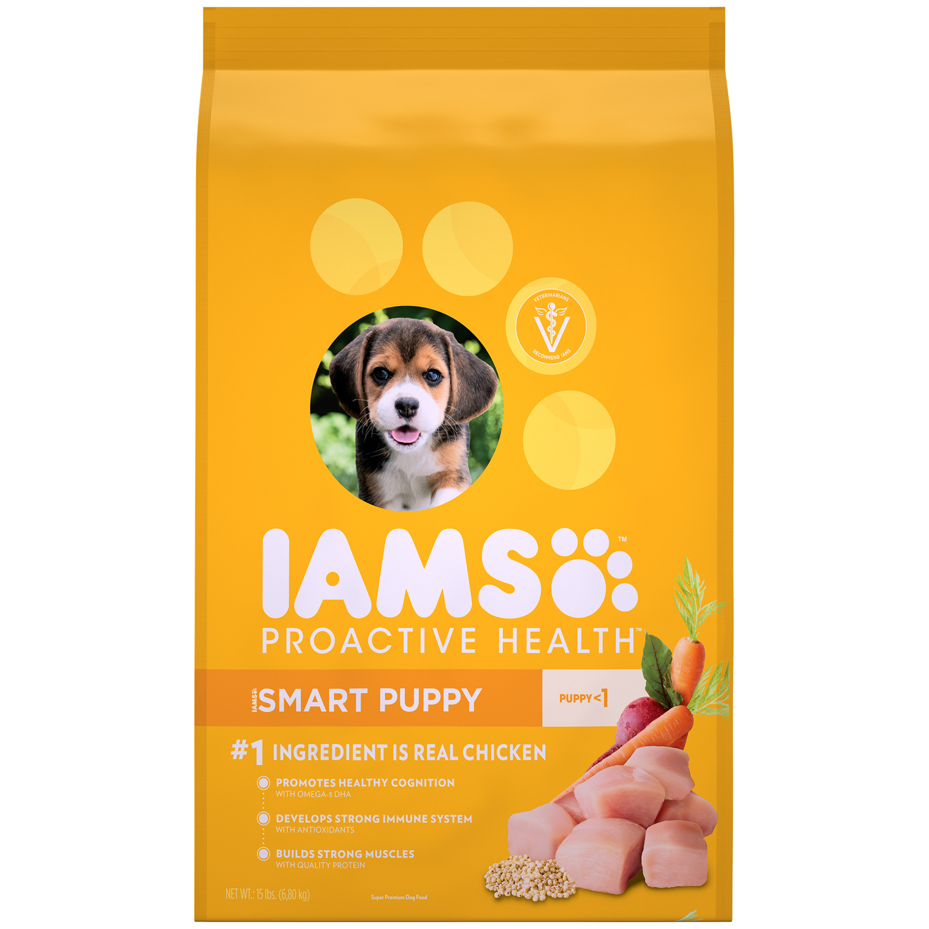 Iams Proactive Health Smart Puppy Dry Dog Food, Chicken, 15 Lb
