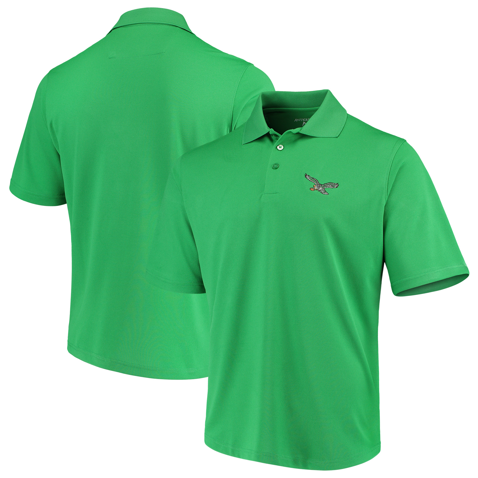 Philadelphia Eagles Antigua Throwback Pique Polo - Kelly Green