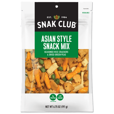 Cheap Party Snacks (Product Of Snak Club, Premium Oriental Party Mix, Count 6 (7 oz) - Snacks / Grab Varieties &)