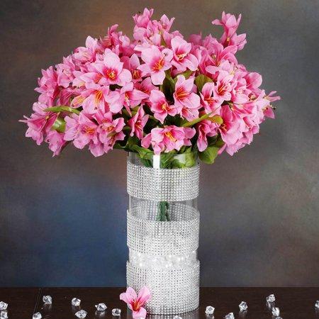 balsacircle 150 oriental lilies artificial wedding craft flowers. Black Bedroom Furniture Sets. Home Design Ideas