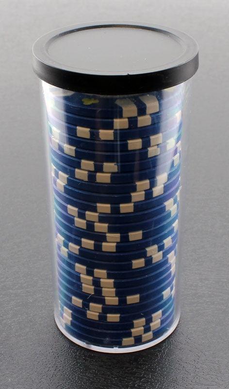 25pc Poker Chip Storage Tube 4pcs by