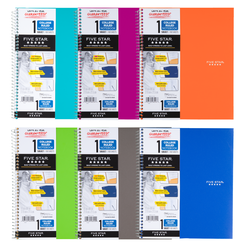 Five Star Trend Wirebound Notebook 1-Subject/College Ruled - Quantity of 6 - PT -  6044