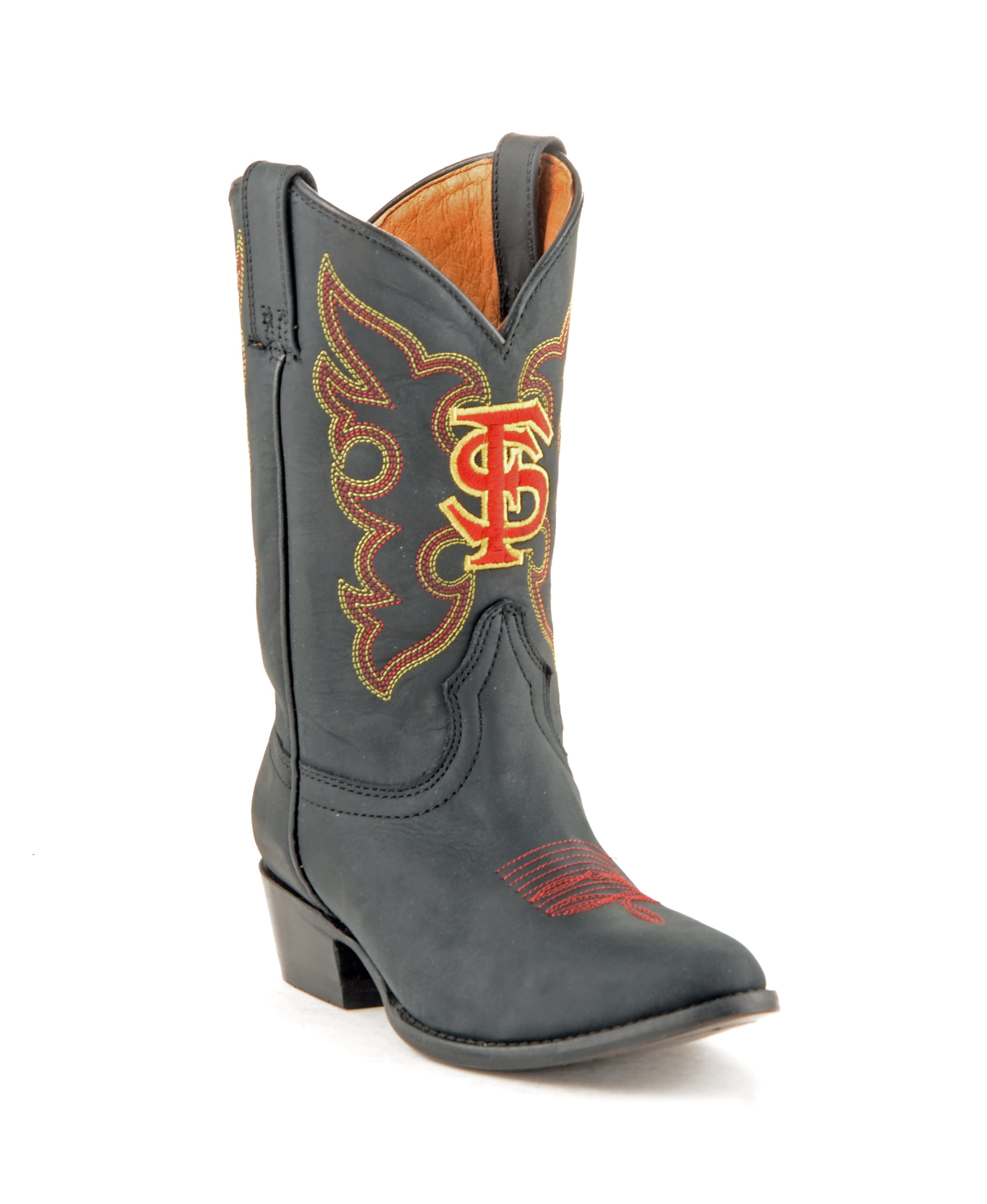 Gameday New Boys Honey Leather Florida State Embroidered Cowboy Boots by GameDay Boots