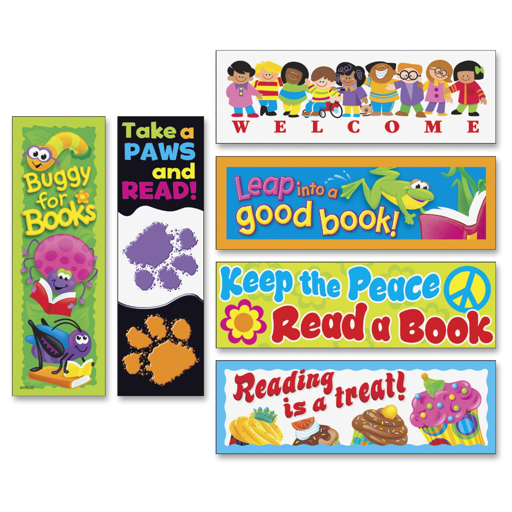 Trend Bookmark Variety Pack - Assorted (tep-12906)