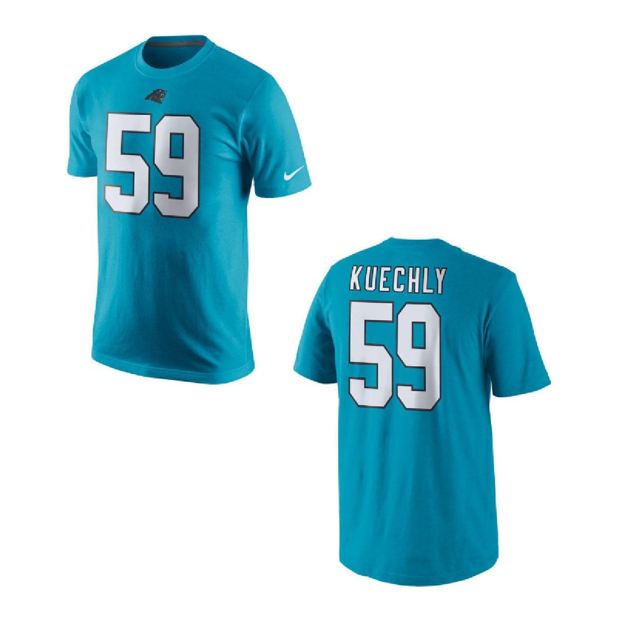Carolina Panthers Luke Kuechly Blue Youth Nike Player Pride Tee2 T-Shirt (Youth XL)