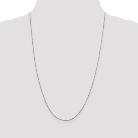 925 Sterling Silver 1mm Round Box Chain 18 Inch - image 1 of 5