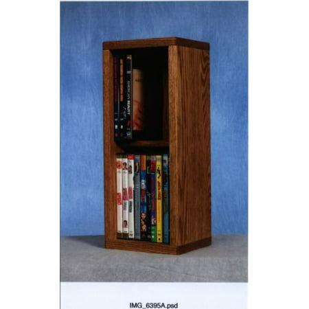 Solid Oak 2 Row Dowel CD/DVD Cabinet Tower