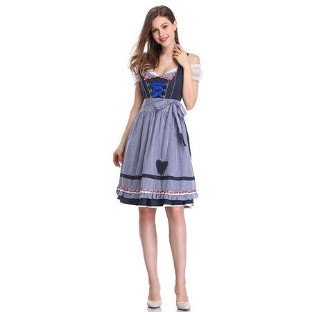 Oktober Fest Dress (Bavarian Oktoberfest Women's Midi Dirndl Dress)