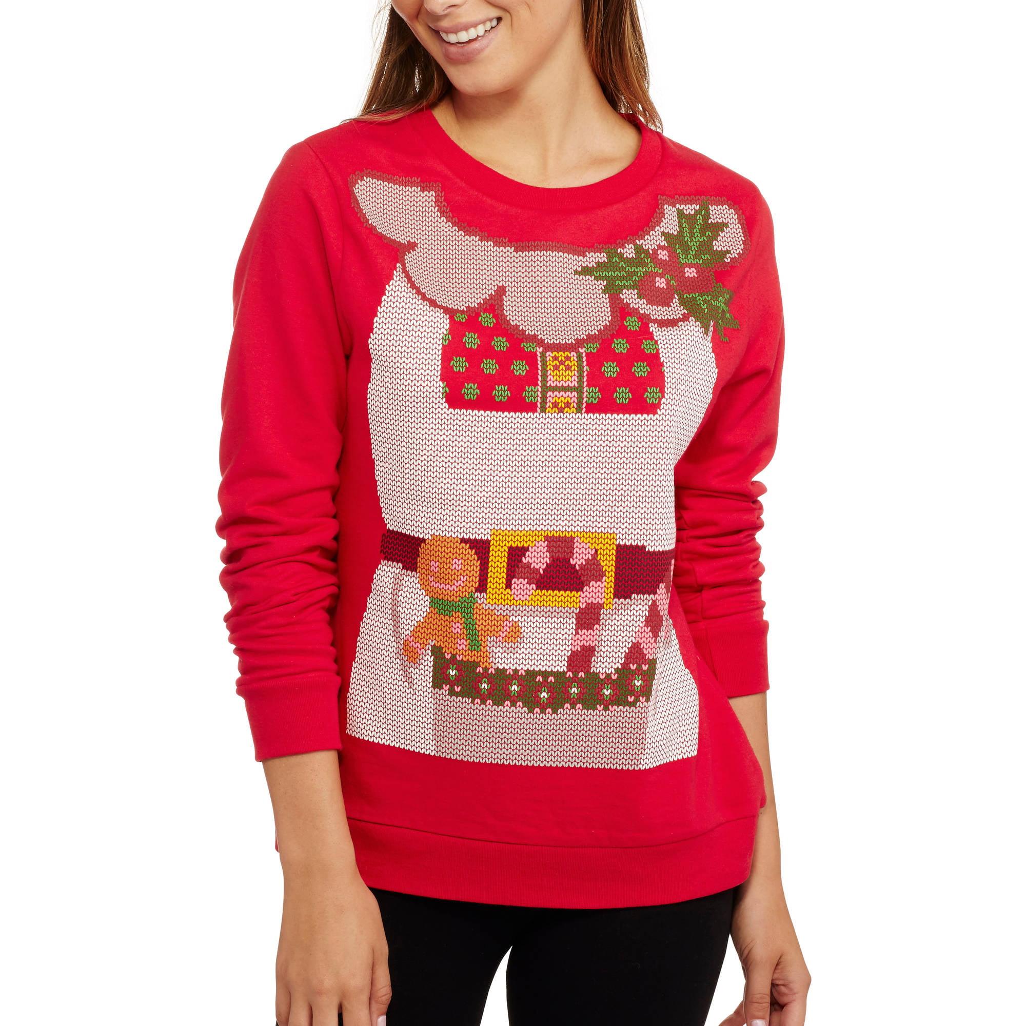 Women's Mrs.Clause Christmas Fleece Crewneck Pullover