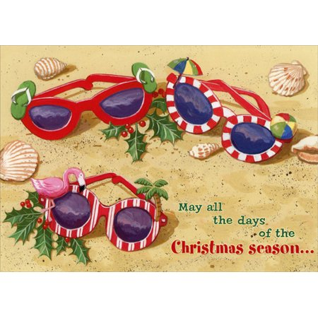 Red Farm Studios Festive Sunglasses in Sand Box of 18 Tropical Christmas (Sunglasses Gift Box)
