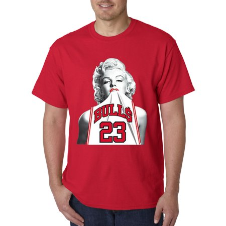 New Way 193 - Unisex T-Shirt Marilyn Monroe Bulls 23 Jordan Jersey (Kids Jordan Clothes)