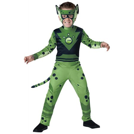 Cheetah Print Costumes (Value Wild Kratts Child Costume Green Cheetah -)