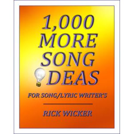 1,000 More Song Ideas for Song/Lyric Writer's - - 1000 Halloween Songs