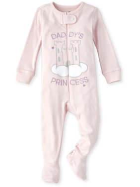 The Children's Place Baby & Toddler Girl Long Sleeve Daddy's Princess Castle Stretchie Pajamas