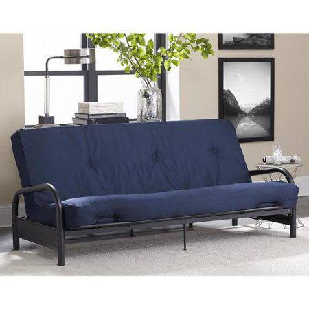 "DHP 8"" Tufted Full Futon Mattress, Navy Blue"