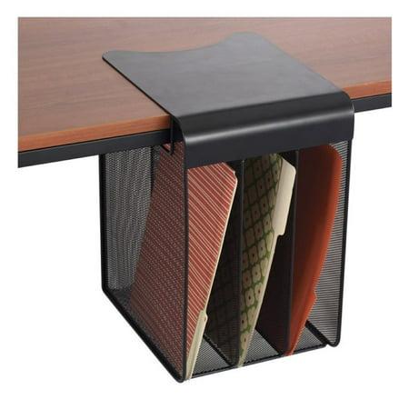 Scranton & Co Solid Top Vertical Hanging Desk Organizer in Black
