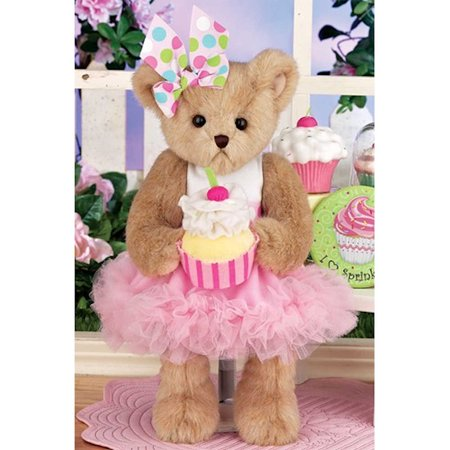 Bearington 143302 Candy Cupcake Plush Teddy Bear