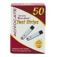 10 Pack Advocate Redi-Code Diabetes Blood Glucose Test Strips 50 Ct. (500 Total)