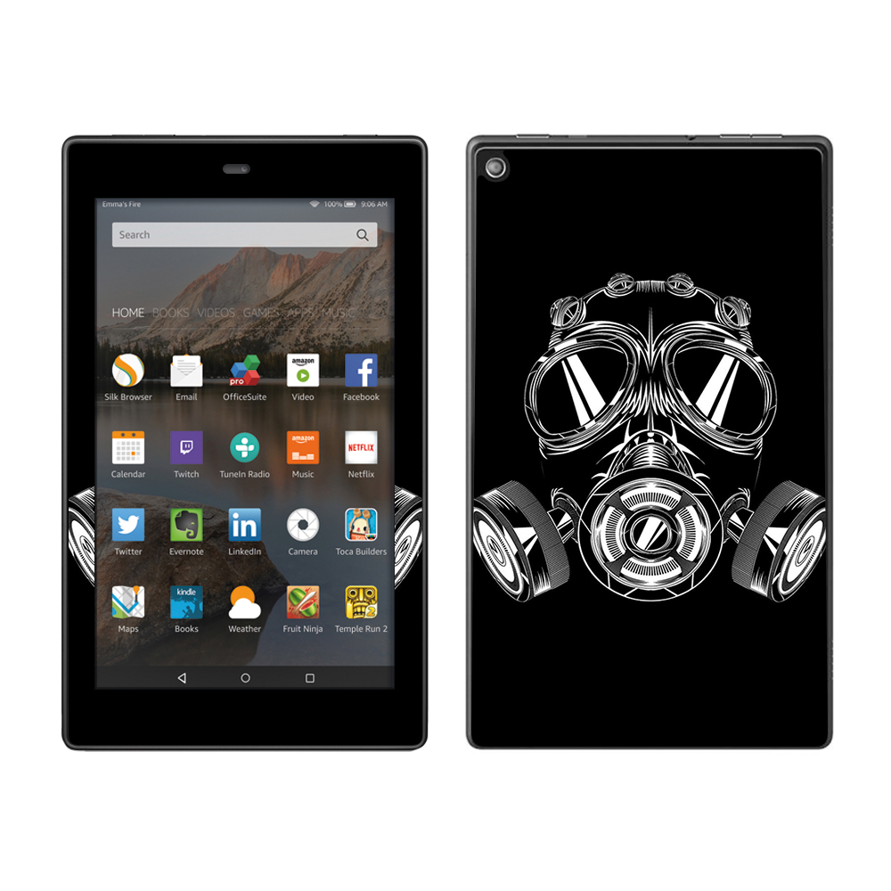 Skin Decal For Amazon Fire Hd 8 Tablet   Apocalypse Gas Mask by Itsaskin