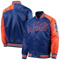 New York Mets G-III Sports by Carl Banks Starter Dugout Spring Training Raglan Full-Snap Jacket - Royal/Orange