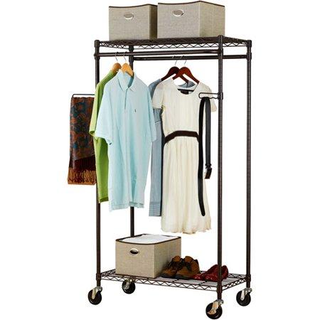 canopy heavy duty garment rack bronze. Black Bedroom Furniture Sets. Home Design Ideas