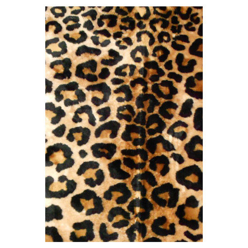 Walk On Me Animal Black/Brown Leopard Area Rug