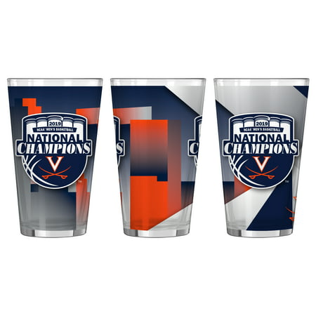 Virginia Cavaliers 2019 NCAA Basketball National Champions Sublimated Pint Glass