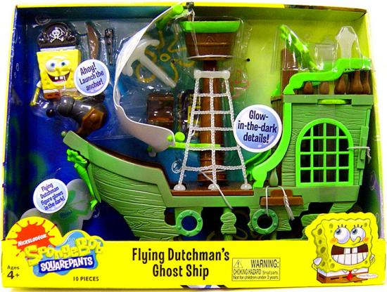 Spongebob Squarepants Flying Dutchman's Ghost Ship Playset by