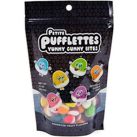 Petite PUFFLETTES Assortiment de fruits Saveurs gommeux délicieux, Morsures 16 oz