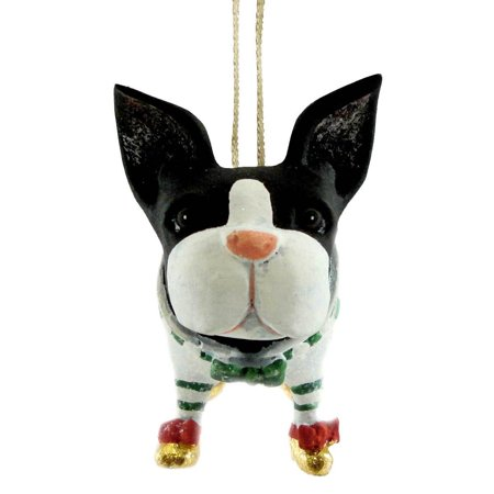 Mini Boston Terrier Christmas Ornament 08-30412, Patience Brewster Mini Boston Terrier Ornament is a whimsical design created by the designer.., By Patience Brewster