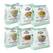 Augason Farms Emergency Food Storage Entree Variety Pantry Packs, 6 pc