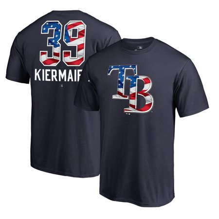- Kevin Kiermaier Tampa Bay Rays Fanatics Branded Banner 2018 Stars & Stripes Wave Name & Number T-Shirt - Navy