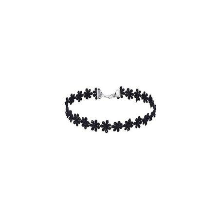 Flower Design Velvet Choker Necklace