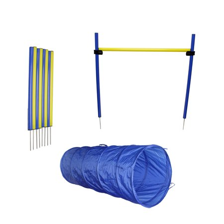 MiMu | Dog Agility Equipment Set Dog Obstacle Course Equipment Tunnel Weave