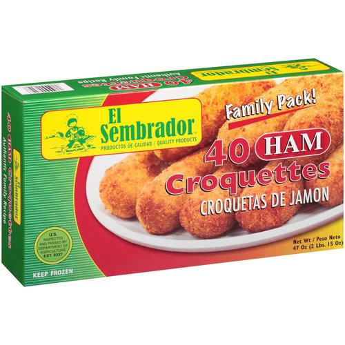 El Sembrador Ham Croquettes, 40 ct, 47 oz