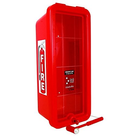 Lock Cylinder Collar - (LOT OF 6) CATO 10551-H Red Plastic Chief Fire Extinguisher Cabinet for 2-1/2 or 5 lb. Extinguisher, with Hammer and Cylinder Lock