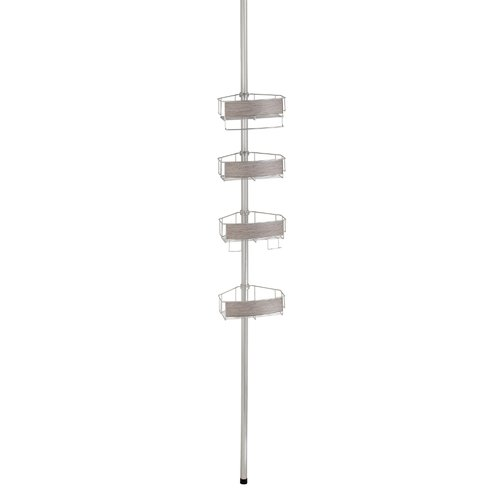 InterDesign Realwood Tension Pole Shower Caddy by