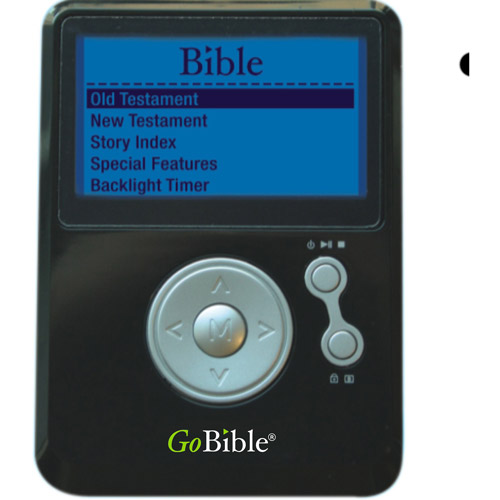 GoBible 1GB MP3 Player with New International Version, Black