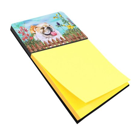 English Bulldog Spring Sticky Note Holder