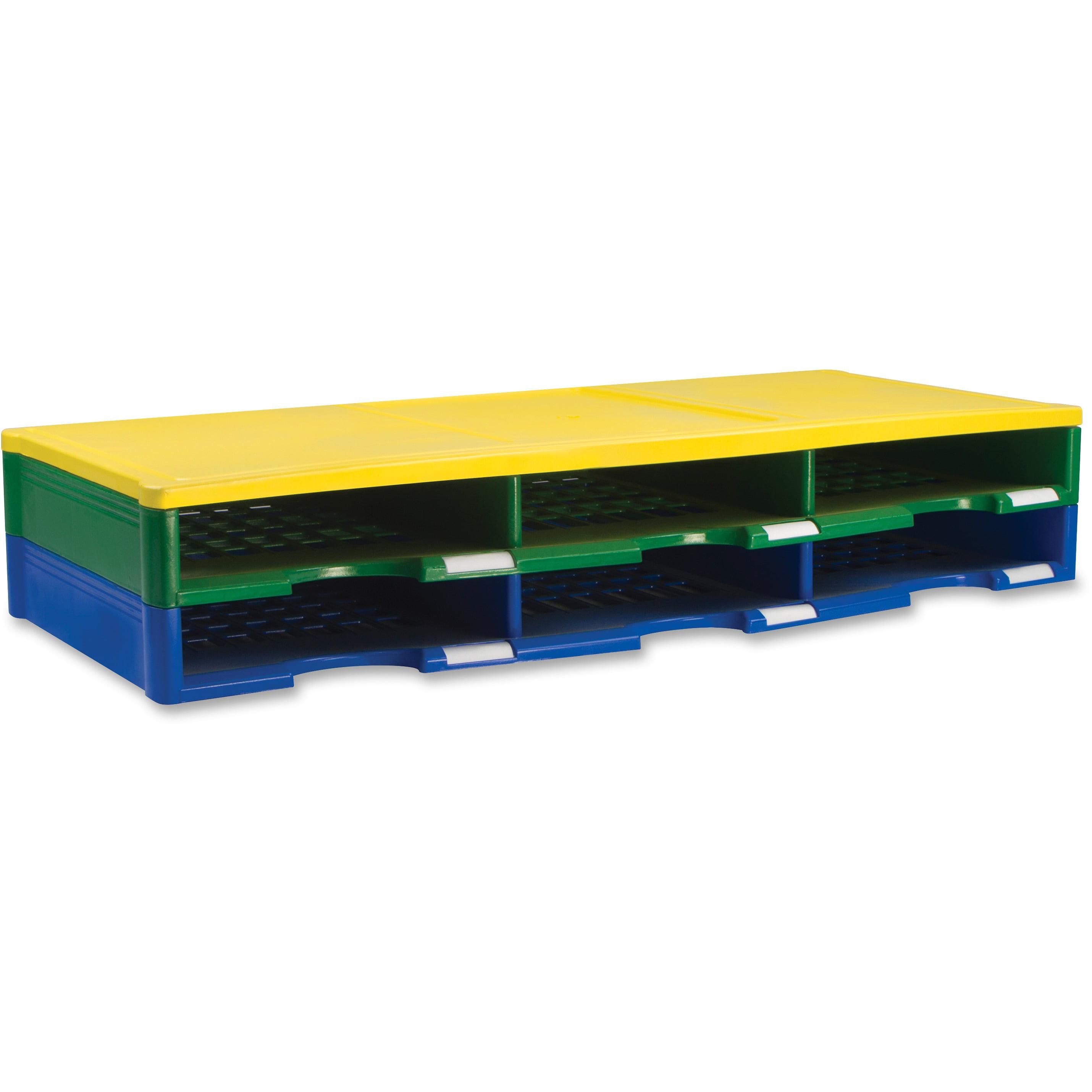 Storex, STX61603U01C, 6 Piece Literature Organizer, 4   Set, Blue,Green,Yellow by Storex Industries Corporation