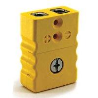 DAYTON 36GL04 Thermocouple Jack,K,Standard,Yellow,2Pin