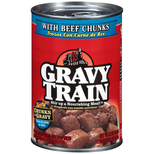 Gravy Train Chunks in Gravy with Beef Chunks Wet Dog Food, 22-Ounce Can