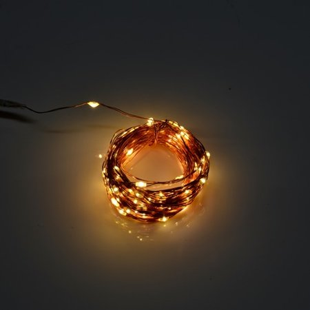 Perfect Holiday 100 LED 32 ft Copper Wire Mini String Fairy Light, Warm - Mini Wars