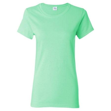 43aab1fc9 Gildan - Gildan 5000L Women's Cotton T-Shirt -Mint Green-3X-Large -  Walmart.com