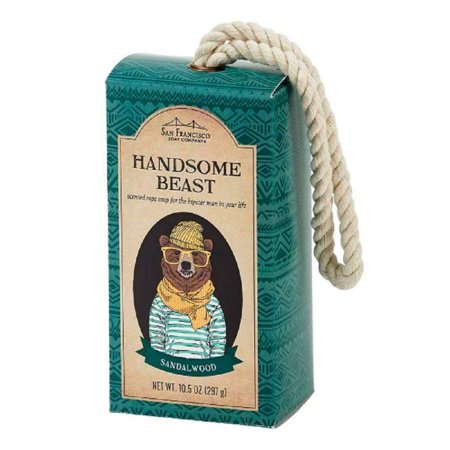 San Francisco Soap Company Handsome Beast Rope Soap, Hipster Sandalwood, 10.5 (Avon Wild Country Soap On A Rope)