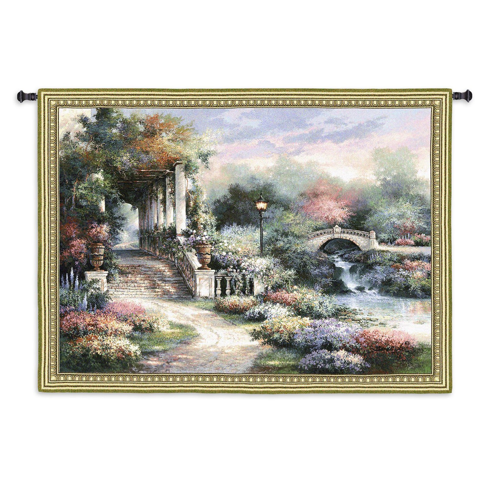 Fine Art Tapestries Classic Garden Retreat Wall Tapestry by Fine Art Tapestries