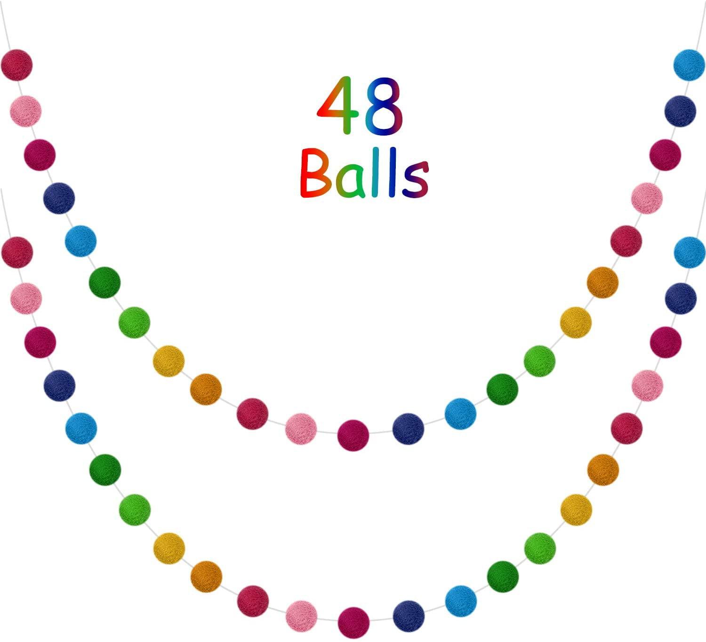 Cross Rainbow GarlandEaster DecorSpring DecorFelt Pom Ball Garland