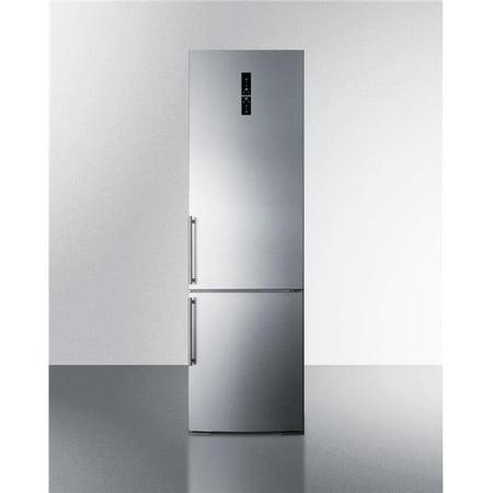 Summit FFBF181ESBIIMLHD Built-in European Bottom Freezer Frost Free Refrigerator with Icemaker & Left Hand Door - Bottom Freezer With Ice Maker Refrigerator