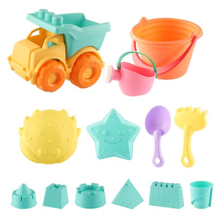Beach Toys Set for Kids Toddlers 13pcs Beach Sand Toy Set Including Sand Truck, Watering CanBeach Molds, Beach Bucket, Beach Shovel Tool Kit, Sandbox Toys Toddlers](Sand Toys)