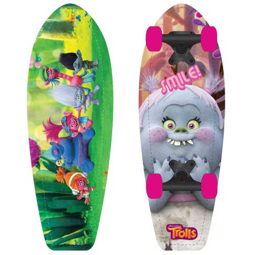 "Playwheels Trolls Kids 21"" Complete Skateboard"
